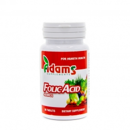 Acid folic 400mg 30cp - ADAMS