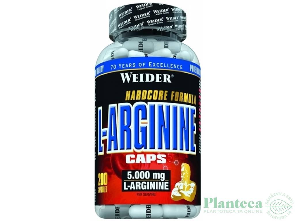 Larginina 5000mg 200cps - WEIDER