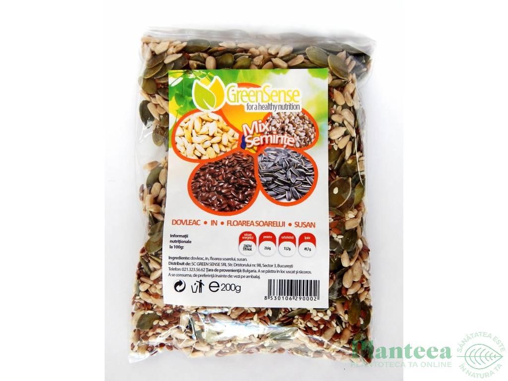 Mix seminte dovleac in fl soarelui susan 200g - GREEN SENSE