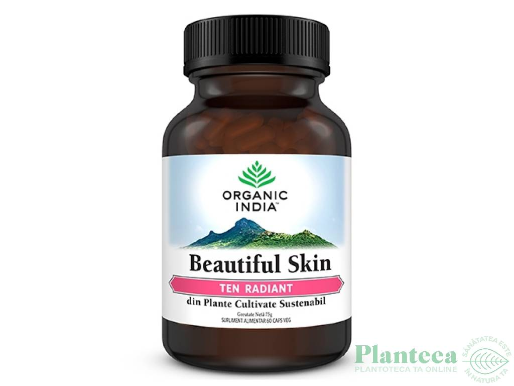 Beautiful skin [Ten radiant] 60cps - ORGANIC INDIA