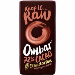 Ciocolata neagra 72%cacao probiotice raw 35g - OMBAR