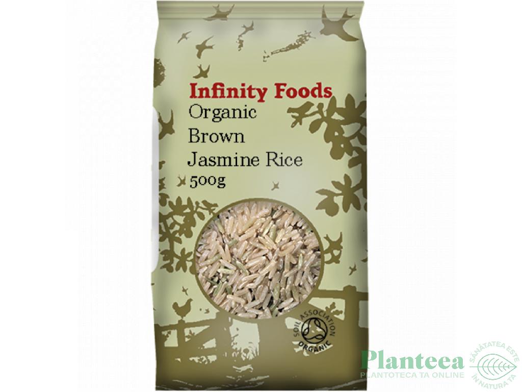 Orez jasmin integral 500g - INFINITY FOODS