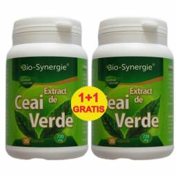 Pachet Ceai verde extract {1+1} 30cps - BIO SYNERGIE