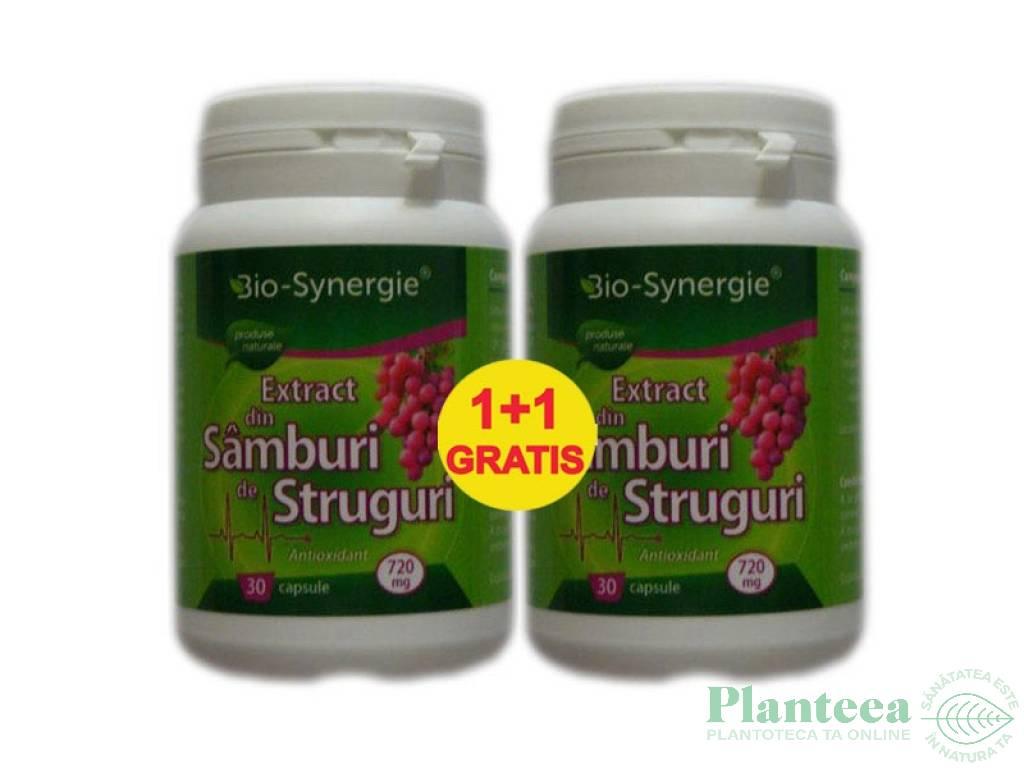 Pachet Samburi struguri extract {1+1} 30cps - BIO SYNERGIE