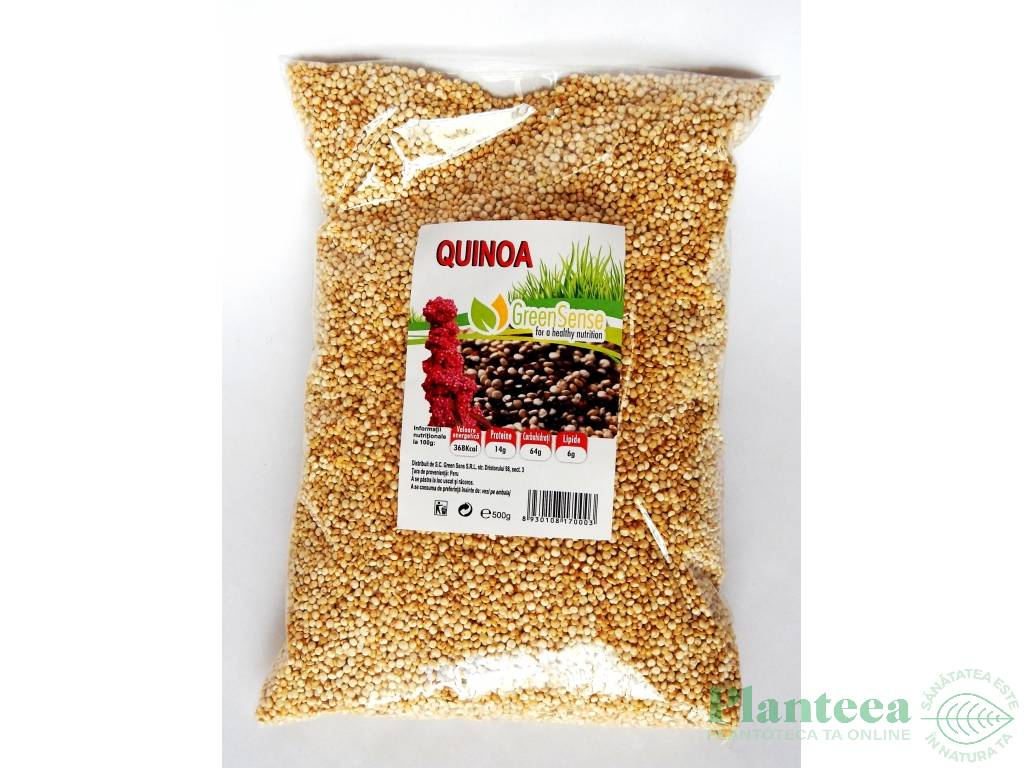 Quinoa alba boabe 500g - GREEN SENSE