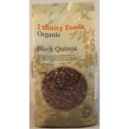 Quinoa neagra boabe 450g - INFINITY FOODS
