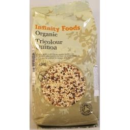 Quinoa tricolora boabe 450g - INFINITY FOODS