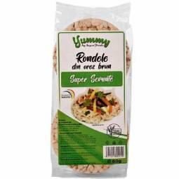 Rondele expandate orez brun super seminte 60g - SUPERFOODS