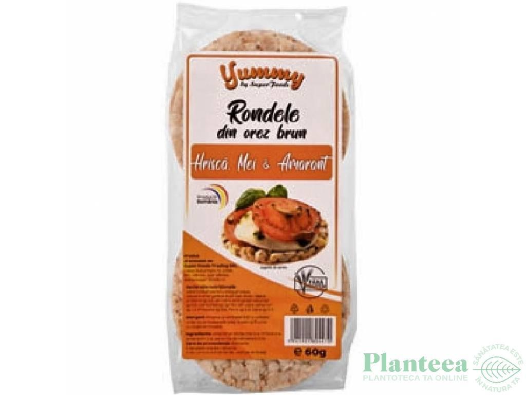 Rondele expandate orez brun hrisca mei amarant 60g - SUPERFOODS