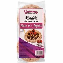 Rondele expandate orez brun hrisca in negrilica 60g - SUPERFOODS