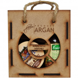 Set Cadou rustic [ulei argan fraicheur 60ml+crema nagoya 100ml+sapun argana 40g] 3b - AZBANE