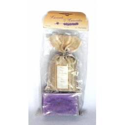 Set cadou Sapun lavanda+Saculet iuta lavanda uscata - LE CHATELARD 1802
