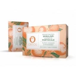 Sapun spirulina portocale 100g - ORTOS