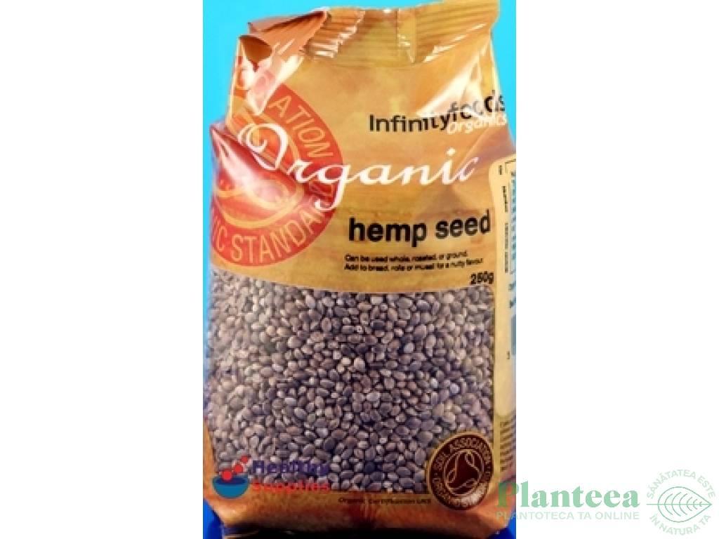Seminte canepa nedecorticate 250g - INFINITY FOODS