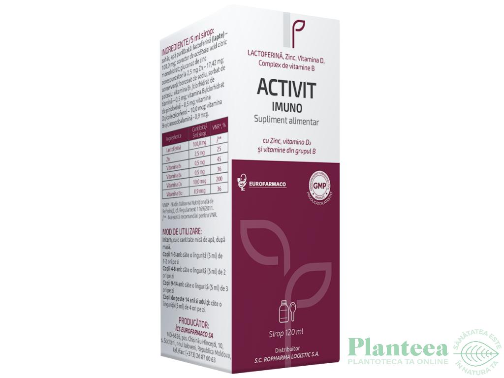 Sirop Activit Imuno 120ml - EUROFARMACO