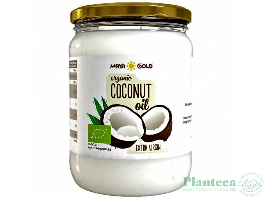Ulei cocos extravirgin bio 450g/500ml - MAYA GOLD
