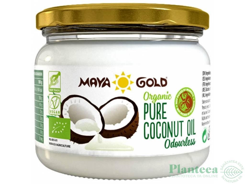 Ulei cocos dezodorizat bio 250g/280ml - MAYA GOLD