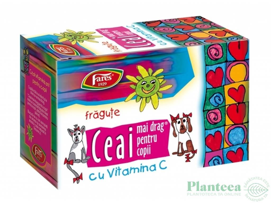 Ceai natural mai drag pt copii fragute C 20dz - FARES