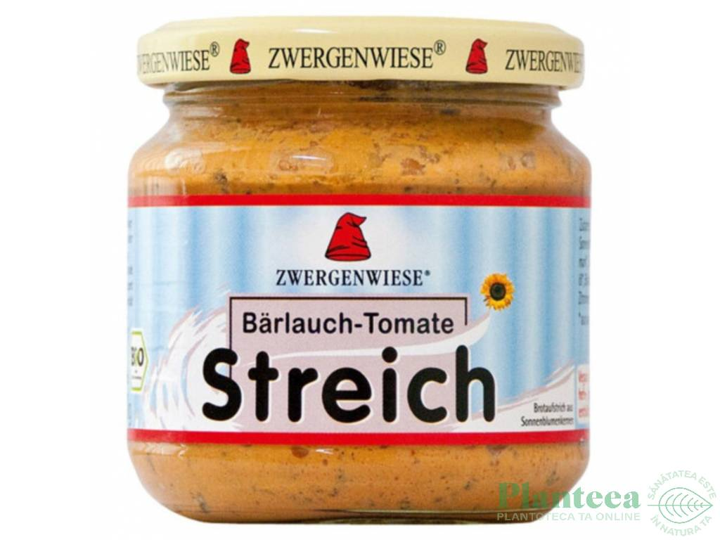 Pate vegetal fl soarelui usturoi salbatic tomate 180g - ZWERGENWIESE