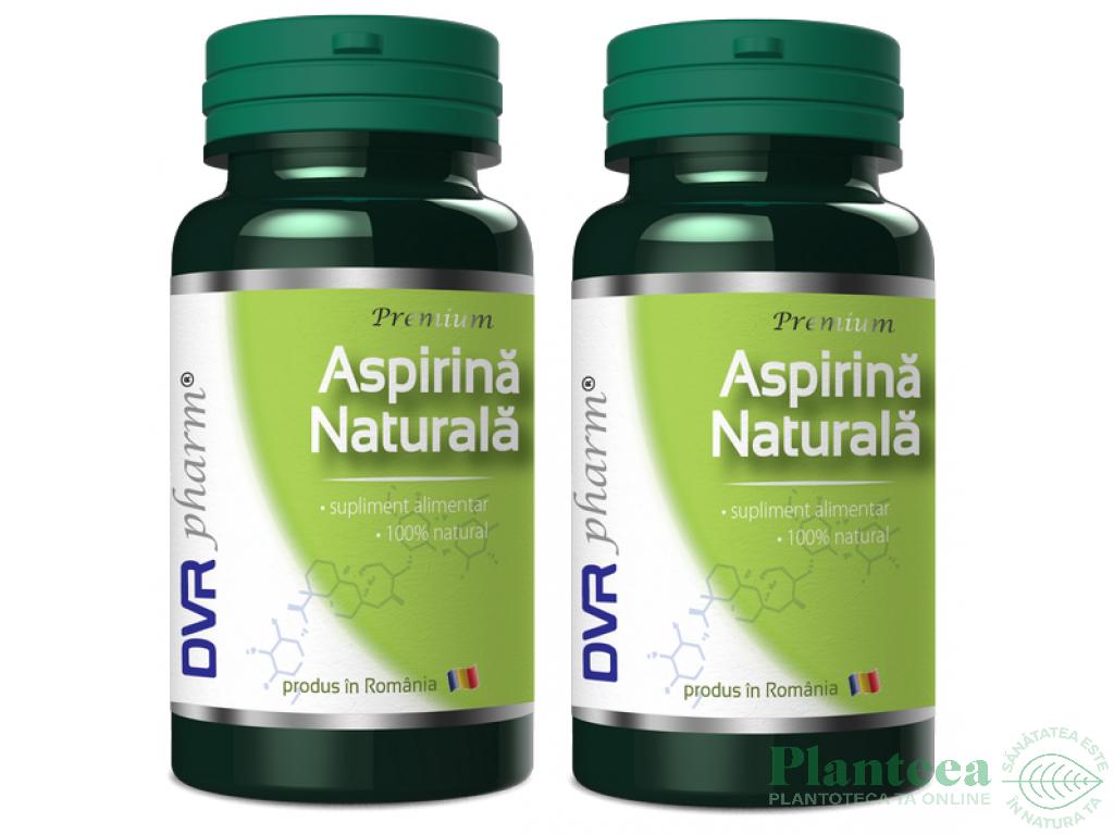 Pachet Aspirina naturala 60+30cps - DVR PHARM