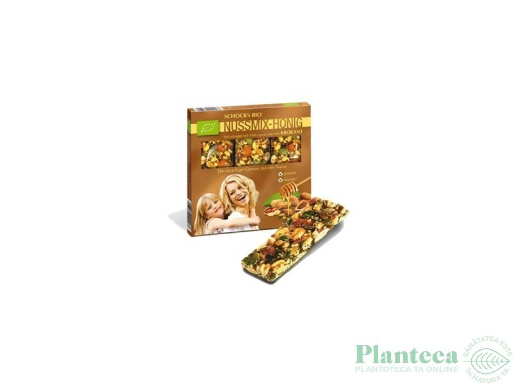 Batoane crocante mix alune miere 3x25g - SCHOCK`S
