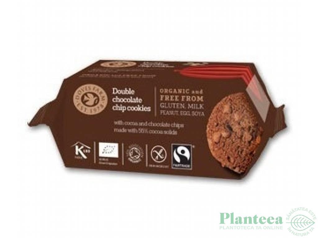 Biscuiti ciocolata dubla fara gluten 180g - DOVES FARM