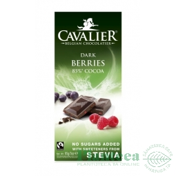 Ciocolata neagra 85% fructe padure 85g - CAVALIER