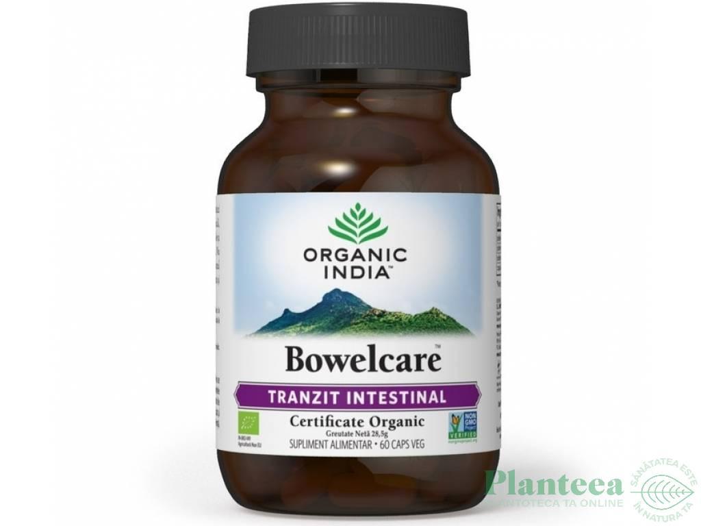 Bowelcare [tranzit intestinal] 60cps - ORGANIC INDIA
