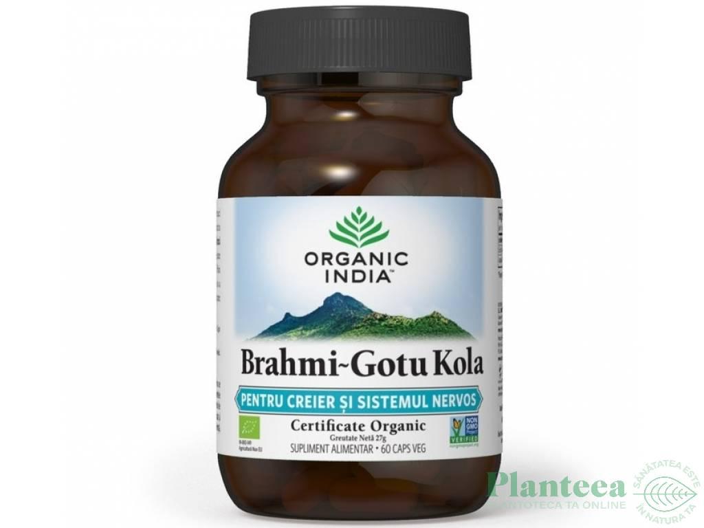 Brahmi gotu kola [creier sistem nervos] 60cps - ORGANIC INDIA