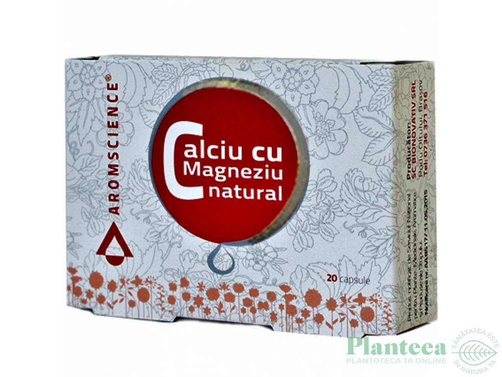 Calciu magneziu natural 20cps - AROM SCIENCE