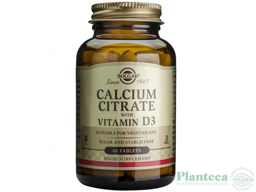 Calciu citrat D3 250mg 60cps - SOLGAR