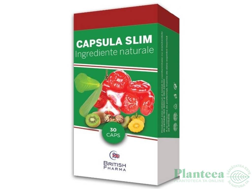 Capsula slim slabit 30cps - BRITISH PHARMA