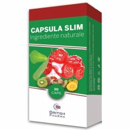 Capsula slim slabit naturala 30cps - BRITISH PHARMA