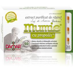 Mumie extract purificat rasina propolis 30cps - DAMAR