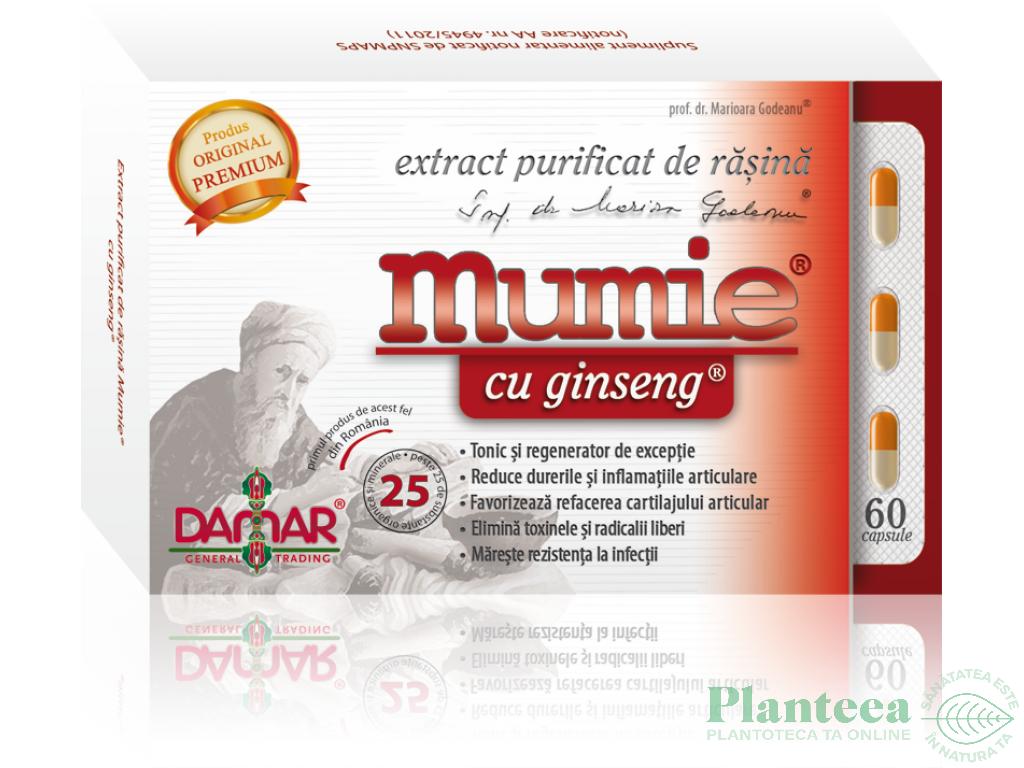 Mumie extract purificat rasina ginseng 60cps - DAMAR