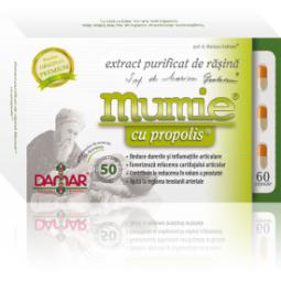 Mumie extract purificat rasina propolis 60cps - DAMAR