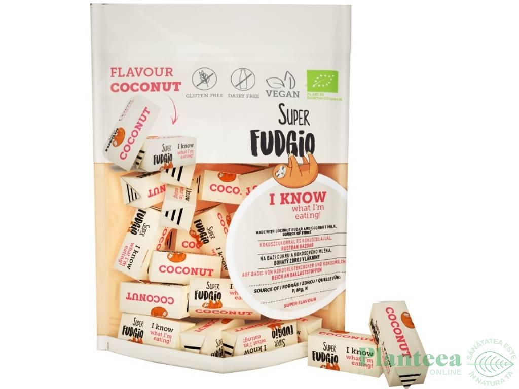 Caramele vegane cocos fara gluten bio 150g - SUPER FUDGIO