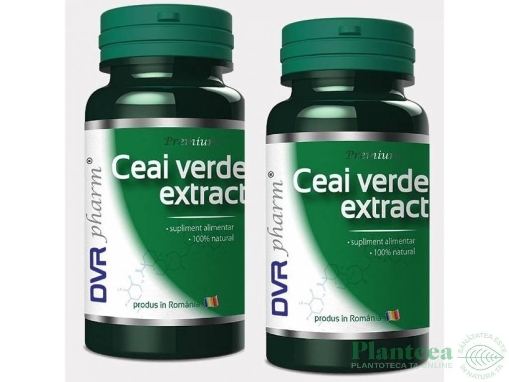 Pachet Ceai verde extract 60+30cps - DVR PHARM