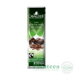 Ciocolata neagra bucati cacao 40g - CAVALIER