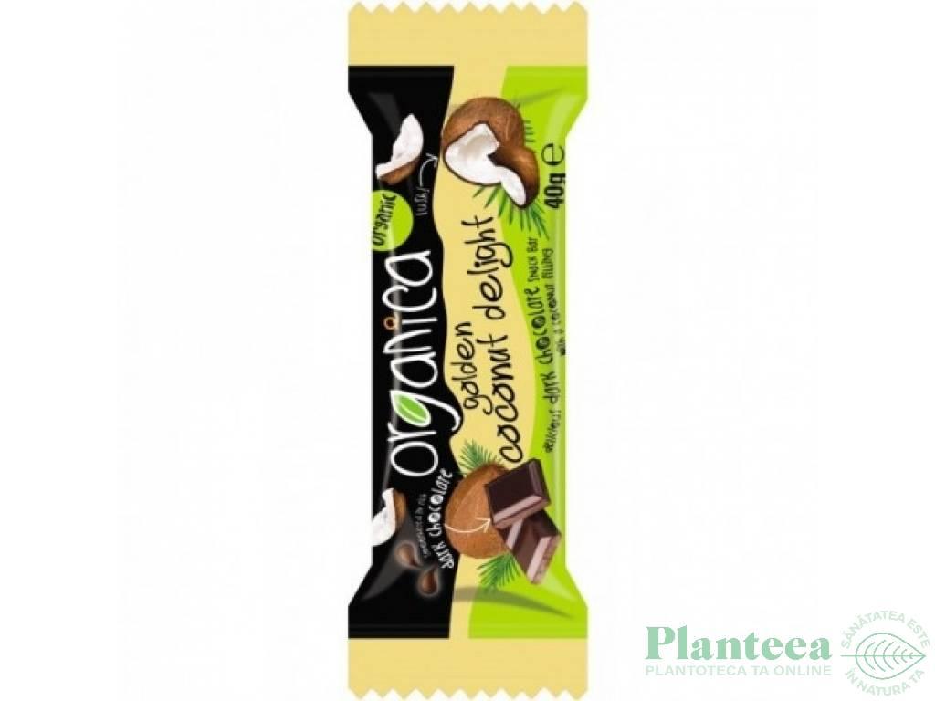 Baton ciocolata neagra cocos 40g - ORGANICA