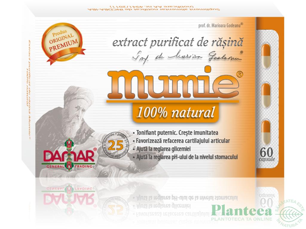 Mumie extract purificat rasina 60cps - DAMAR