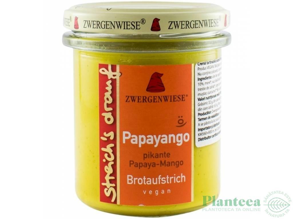 Crema tartinabila picanta papaya mango 160g - ZWERGENWIESE