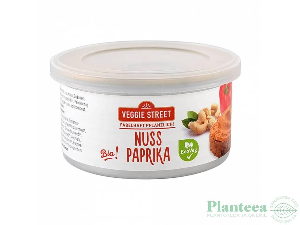 Pate vegetal ardei rosu nuci 125g - VEGGIE STREET