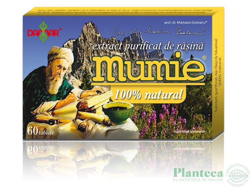 Mumie extract purificat rasina 60cp - DAMAR