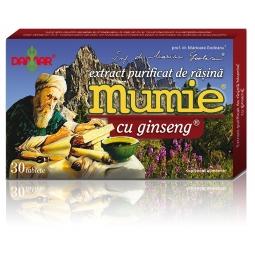 Mumie extract purificat rasina ginseng 30cp - DAMAR