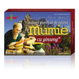 Mumie extract purificat rasina ginseng 60cp - DAMAR