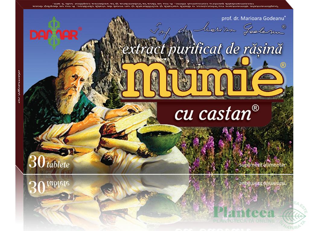 Mumie extract purificat rasina castan 30cp - DAMAR