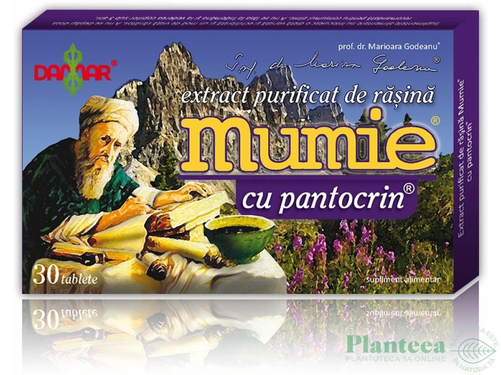 Mumie extract purificat rasina pantocrin 30cp - DAMAR