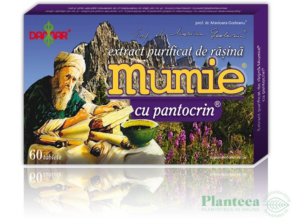 Mumie extract purificat rasina pantocrin 60cp - DAMAR