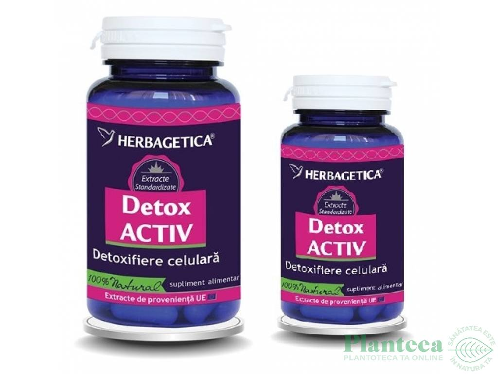 Pachet Detox activ 60+10cps - HERBAGETICA
